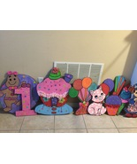Candy Land 3 feet Wood  Standees  Birthday party Centerpiece. Photo Prop... - $49.99