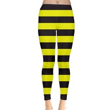 Bumble Bee Yellow Black Stripes Legging XS, S, M, L, XL, 2XL, 3XL, 4XL, ... - $23.75