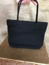 The SAK Black CROCHETED LITTLE PURSE Evening Hand Bag - $28.91