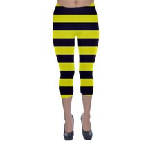 Bumble Bee Yellow Black Stripes Legging XS, S, M, L, XL, 2XL, 3XL, 4XL, ... - $24.70
