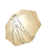 Leonardo Da Vinci The Vitruvian Man Foldable Umbrella 8 ribs - $23.75