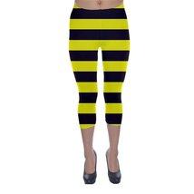 Bumble Bee Yellow Black Stripes Legging XS, S, M, L, XL, 2XL, 3XL, 4XL, ... - $22.80