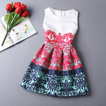 NEW Women Red Blue White Vintage Retro Mini Sleeveless Spring Flare Dress Size 6 - $21.78