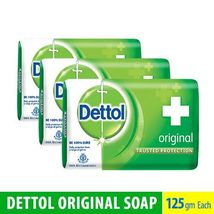 3 BARS Dettol Original Bar Soap 125grams Each F... - $15.99