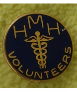 Nice Vintage Gold Tone Enameled HMH Pin, VG COND - $1.97