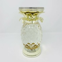 Bath & Body Works Pineapple Light Up Water Globe 3 Wick Candle Holder Pedestal - $128.69