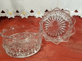 """PAIR OF CANDY DISH WIGGLY EDGE, CIRCLES AND STAR BOTTOM 4"""" X 2"""" image 2"""