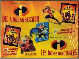 The Incredibles Box 20 Packs Stickers + 3D Magnets Panini Disney - $15.00