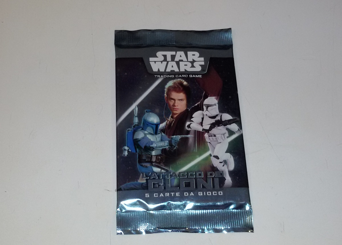 Star Wars TCG Cards Attack Clones Sealed Pack Italian Ed.