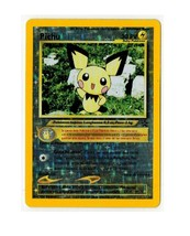 Pokemon TCG Black Star Promo Card # 35 Pichu Holo Rare Italian - $4.00
