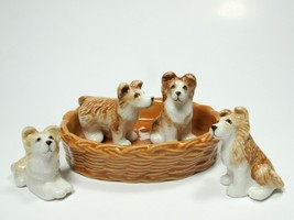 Set of 4 Miniatures Collectible Ceramic Golden ... - $14.85