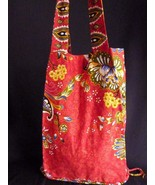 Fair Trade Small Red tote Messenger Bags Handmade in Cambodia!! - $12.69