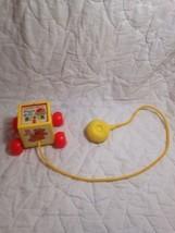 (C15) VINTAGE Fisher Price 1970 Vintage Pull Toy Pop Up Peek-a-Boo Block... - $12.86