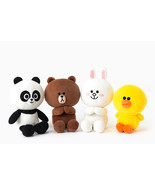 "LINE Friends Season 4 Doll 28cm(11"") 4Types Plush Toys Stuffed Animals *... - $51.98"