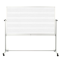 "Luxor MB7248MM - 72""x48"" Mobile Double Sided Music Whiteboard - $380.99"