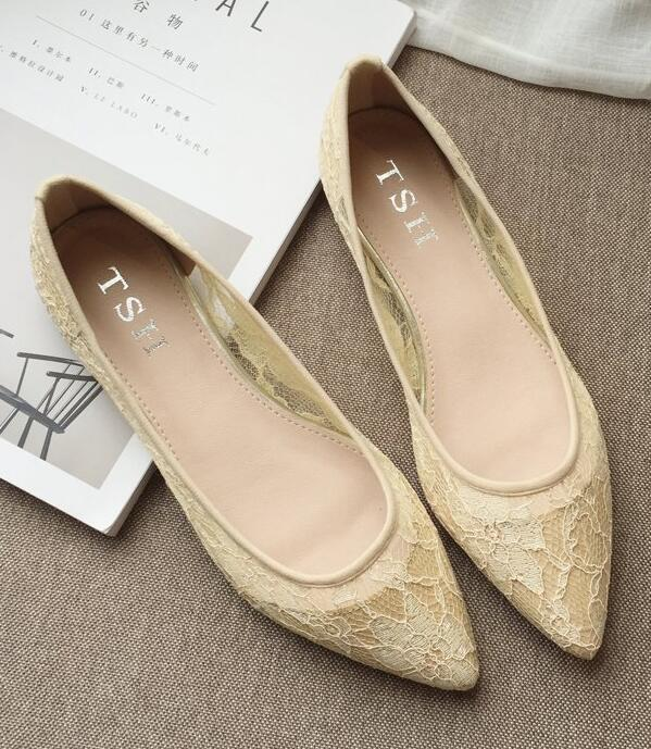 Primary image for Lace Wedding Shoes/ Lace Flat Shoes/Ivory Flats Shoes/Ivory Lace Flats Shoes
