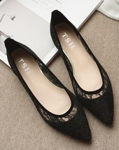 Black Lace Wedding Shoes,Black Wedding Shoes for Bridal,Black lace flats shoes image 1