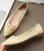 Black Lace Wedding Shoes,Black Wedding Shoes for Bridal,Black lace flats shoes image 5