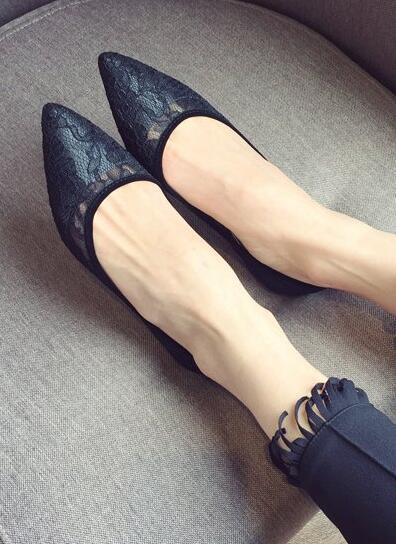 Black Lace Wedding Shoes,Black Wedding Shoes for Bridal,Black lace flats shoes image 2