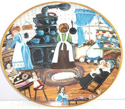 Home Made Sweets Kids Old Stove Collector Plate Franklin Mint COA Karyn ... - $59.95