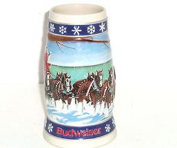 Budweiser Beer Stein Holiday LIghting the Way Home Mug 1995 Vintage Hand... - $64.95