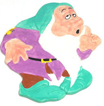 Disney Trivet Sleepy Dwarf Snow White Treasure Craft Pfaltzgraff Hot Pla... - $59.95