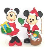 Walt Disney Company Mickey MInnie Mouse Ornament Christmas Holiday Lot of 2 - $34.95
