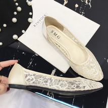 Blue Lace Wedding Shoes/ Royalblue Lace Flat Shoes/ Dark Blue Lace Flats Shoes image 5
