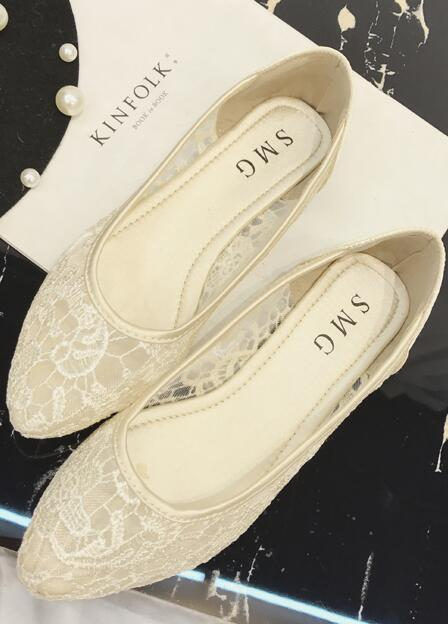 Primary image for Ivory Lace Wedding Shoes/ Beige Lace Flat Shoes/ Off White Lace Flats Shoes