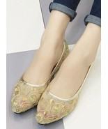 Ivory Wedding Shoes/ Lace Bridal Shoes/Champagne Shoes/Golden Lace Flats... - $38.00
