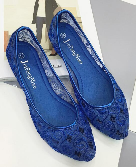 Blue Wedding Shoes/ Lace Bridal Shoes/Champagne Shoes