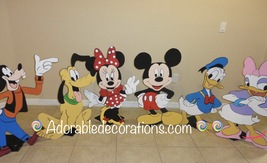Mickey Club House 3 feet  Wood Standees Birthda... - $49.99