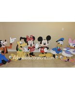 Mickey Club House 3 feet  Wood Standees Birthday. Photo Props Standees -... - $49.99