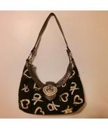 XOXO Purse/Handbag Black with Gold/Silver XO & Hearts - $18.99