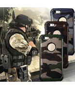Armor Anti-Skidding Camouflage Leather TPU+PC Back Case Cover for iPhone... - $7.90