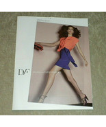 Diane von Furstenberg DVF 16p color Fashion Catalog Spr 2011 great model... - $34.99
