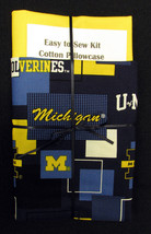 Easy to Sew Kit Cotton Pillowcase - College University of Michigan Wolverines - $9.97