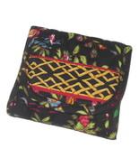 Vera Bradley Ming Wallet Black Japanese Asian Florals Change ID Holder O... - $14.95