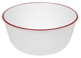 Corelle Livingware 28Ounce Super SoupCereal Bowl Red Band 3 Bowls 14814 - $27.30