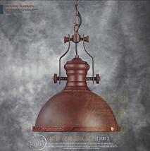 Restoration Harmon Barn Pendant Loft Ceiling Lamp E27 Rust Finish Hanging Light - $154.30