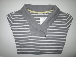 Croft & Barrow Stripes Regular Fit Women' Sweater Shirt Gray L MSRP $40   - $18.32