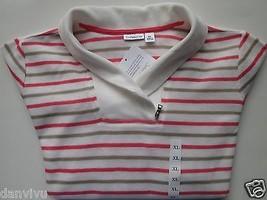 Croft & Barrow Stripes Regular Fit Women' Sweater Shirt White XL MSRP $40  - $18.32