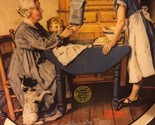 """Knowles Norman Rockwell """"Add Two Cups and a Measure of Love"""""""" # 18388 E Papers"""