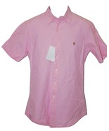 Men's Casual Classic Fit Button Front Shirt by Polo Ralph Lauren Pink SM - $29.99