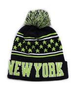 New York Men's City Hunter Winter Knit Beanie Toboggan Hat Cap Dark Gray... - $11.95