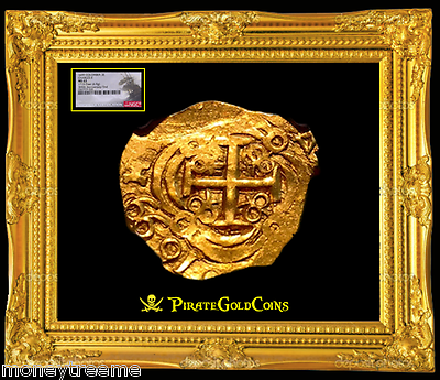 "Primary image for COLOMBIA 1699 ""FULLY DATED!"" 2 ESCUDOS ""1715 FLEET"" NGC 63 GOLD COB DOUBLOON"