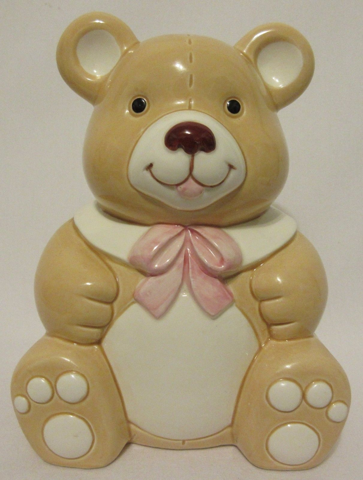 vtg geo z lefton teddy bear bank porcelain and 46 similar items