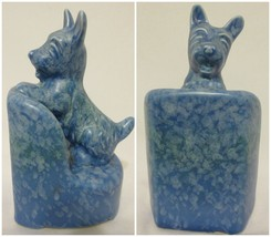 Beswick Ware Pottery Blue Scotty Terrier Dog Bookend Vintage Made Englan... - $59.37