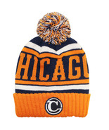 Chicago Navy Blue Patch Men's City Hunter Winter Knit Beanie Toboggan Ha... - $11.95