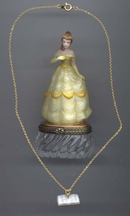 Disney Beauty & Beast Belle & necklace PHB